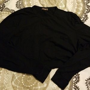 ***3 for $10** [XCVI] Long sleeve black crew tee